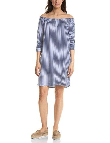 Street One Damen 140657 Kleid, Mehrfarbig (Shadow Blue 21237), 38