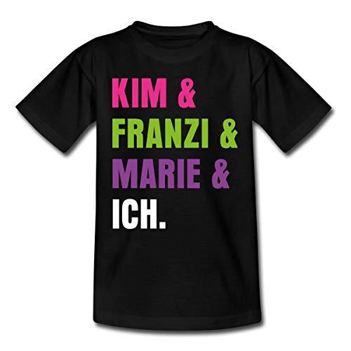 Die DREI !!! (Ausrufezeichen) Kim & Franzi & Marie & Ich Kinder T-Shirt, 98-104, Schwarz