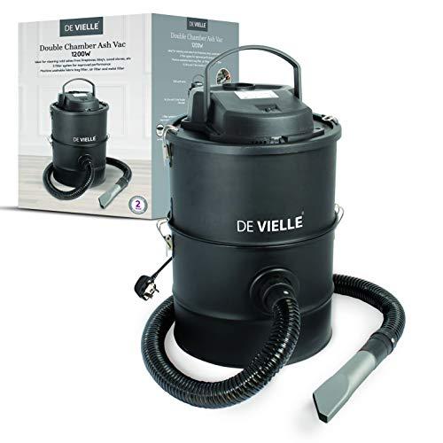 De Vielle Ash Vacuum Cleaner, Metal, Black, 36x36x40 cm
