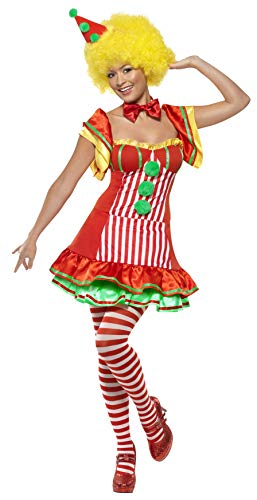Smiffys Payaso Boo Boo, con Vestido y Sombrero en Diadema