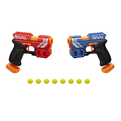 Nerf Rival Clash Pack – Includes 2 Nerf Rival Blasters and 8 Official Nerf Rival Rounds – 25 MPS Velocity, Breech Load