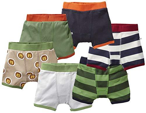 Bio Jungen Boxershorts 100% Bio-Baumwolle (kbA) GOTS zertifiziert, Set 1 - Jungen 6er-Set, 110/116