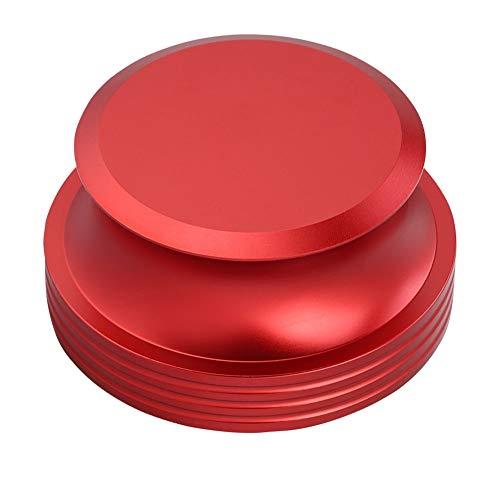 Tonysa Scheibenstabilisator, Aluminium Druckguss Schallplattengewicht Clamp Audio Video Plattenspieler Musikaufzeichnungsgeräte für Schallplattengewicht Player(rot)