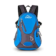 Cycling Hiking Backpack Sunhiker Water Resistant Travel Backpack Lightweight SMALL Daypack M0714 (Blue)