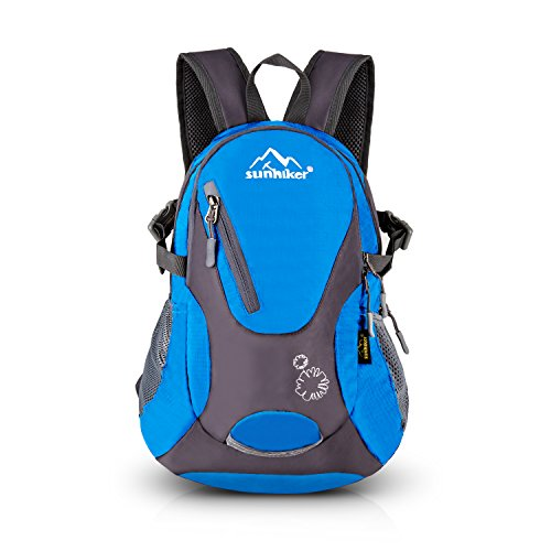 sunhiker Cycling Hiking Backpack Water Resistant Travel Backpack Lightweight Small Daypack M0714 (Blue)