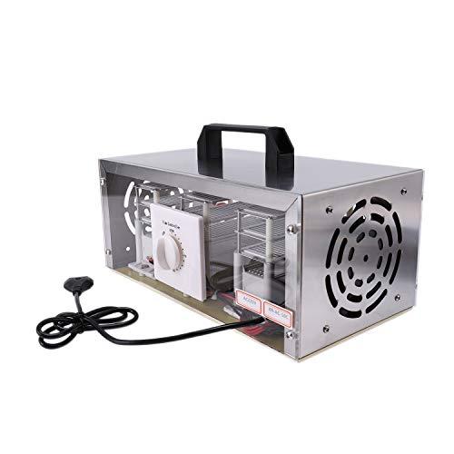 Nrpfell 50G / H 220V Generador de Ozono de Aire Purificador de Aire Ozonizador Limpiador de Ozonizador PortáTil con Interruptor de TemporizacióN Enchufe de la Ue