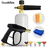 Scuddles | Foam Cannon | Foam Lance | Pressure Washer | Upgraded 2021 Model for Cars Full Kit Includes 3 Micro Fiber Towels and Sponge for Detailing Cars Or SUVS Pressure Washer Mega Set