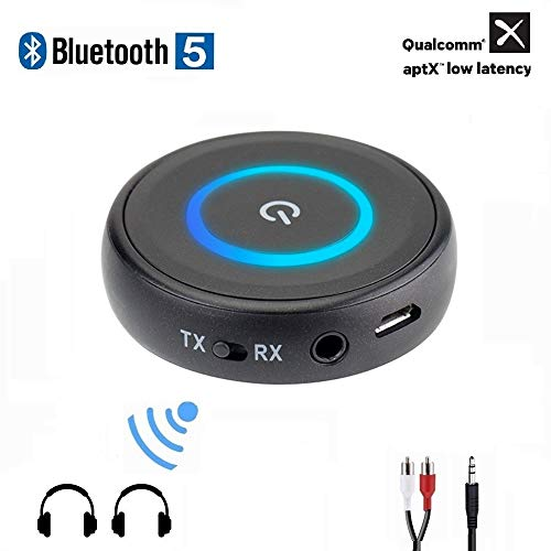 Golvery Bluetooth 5.0 Transmitter Receiver for TV, 2-in-1 aptX Low Latency Wireless Audio Adapter...