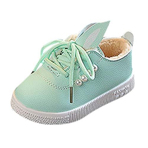 ❤️ Zapatos de Princesa Orejas de Conejo Peludo,Zapatos de bebé para niños pequeños Zapatos de bebé niñas para bebés Cute Bunny Zapatos Antideslizantes Suaves Absolute