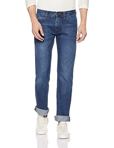 Lee Men's Slim Fit Jeans (L32186248SMU_Blue_34W x 33L)