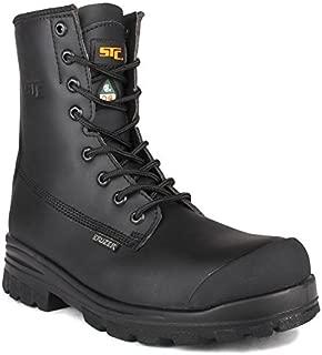 STC Keep Men's Work Boots CSA, Black, Size 10.5W