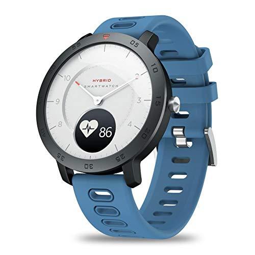 Zeblaze HYBRID SmartWatch, fitnesstracker Extreem lange standby-tijd Waterdichte hartslag- en bloeddrukmeter, stappen en calorieën, training volgen, weer en temperatuur (blauw)