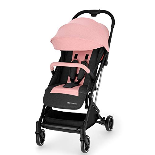 Kinderkraft Silla de Paseo Bebe INDY, Plegable, Impermeable, Hasta 15 kg, Rosa