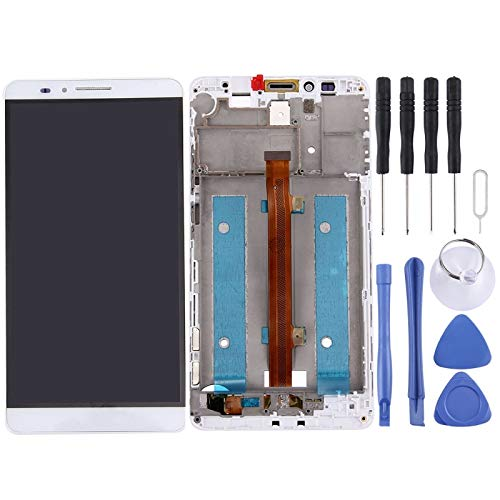 Display LCD + Touch Screen + Frame Huawei Ascend Mate 7 MT7-TL10 Vetro Bianco