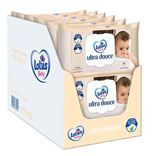 Lotus Baby Ultra Douce - Lingette bébé - 12 paquets de 56 lingettes