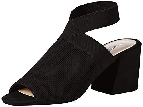 Kenneth Cole New York Women's Hannon Elastic Ankle Strap Heeled Sandal, Black, 11 M US