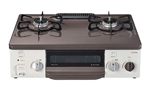 パロマ ガステーブル Caferi[カフェリ] 56cm 強バーナー左(クリスタルブラウン)(都市ガス) PA-S71MHP-L-13A