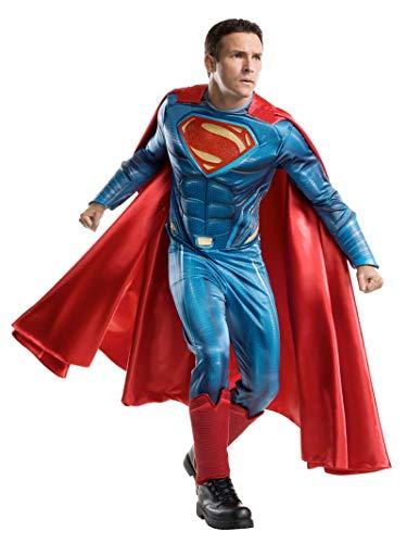Rubie's Men's Batman v Superman: Dawn of Justice Grand Heritage Superman Costume, Multi, One Size
