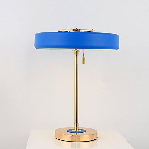 Moderne aluminium tafellamp luxe verguld bedlampje kunst paraplu stijl bedlampje woonkamer lamp, φ38 cm hoog 44 cm E14 * 3 (niet inbegrepen)