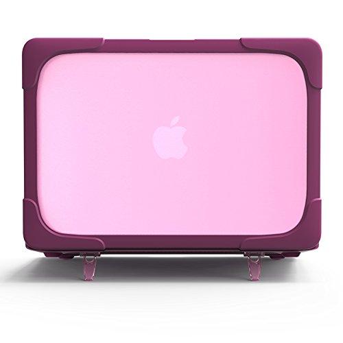 MacBook Air 13ケース,ハードカバー超薄鎧のような 衝撃に強く,立ち上がる支えがついており,型番A1369、A1466 - 紫色
