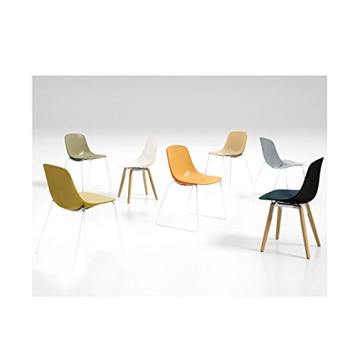 Infiniti–Stuhl zweifarbig Design Pure Loop binuance Pêche/Orange carotte
