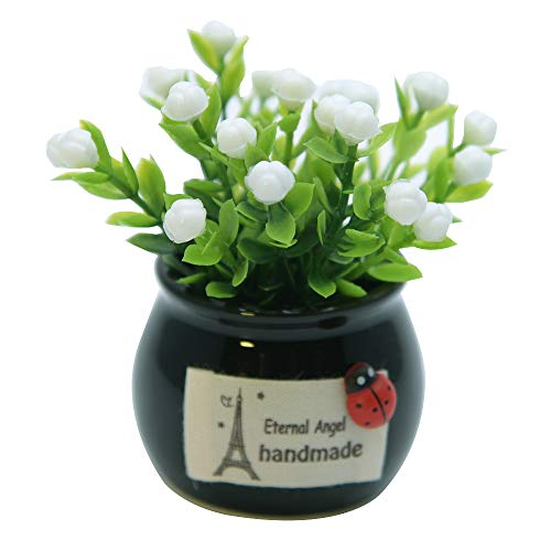 SGSD Simulation Flower Lucky Fruit Mini Vase Fake Flower Potted Car Decoration