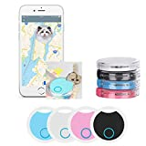 4 Pack Smart Bluetooth Tracker & Bluetooth Key Finder – Key Locator Device with App,GPS Tracking Device for Kids Pets Keychain Wallet Luggage,APP Control Compatible iOS Android