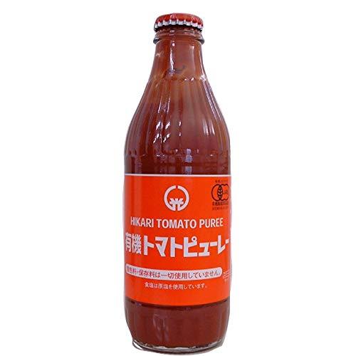 ヒカリ トマトピューレ 320ml 無添加  6本