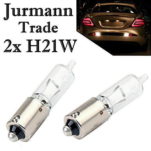 2x Jurmann H21W 12V BAY9S Original Long Life Bremslicht Rückfahrlicht Nebellicht Blinker Halogen Ersatz Birne E-geprüft