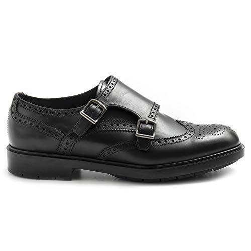 Fratelli 76193 Lady Galv Chaussures à double boucle pour femme Noir - Noir - Noir , 37.5 EU EU