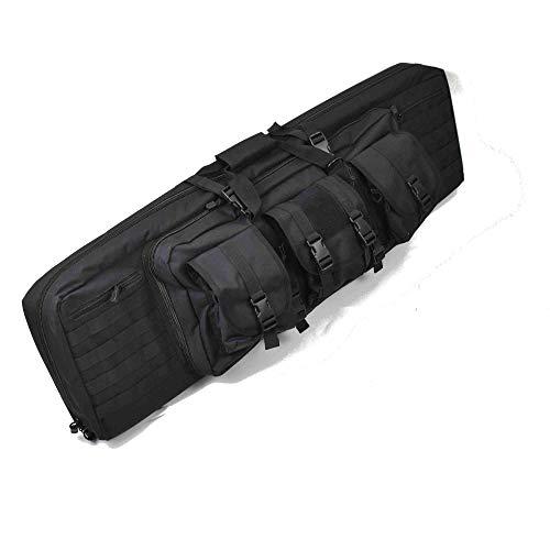 ZEITWISE Gewehrtasche 106 cm 42 Inch für 2 Langwaffen Doppel Abschließbar Gewehrfutteral Auto Rucksack (schwarz)