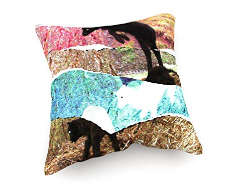 Taie d/'oreiller Housse Coussin 40x40 cm motif Bois marron en finition bois impression de Photographies des deux côtés