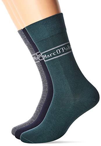 Marc O'Polo Body & Beach M-Socks (3-Pack) Calzini, Multicolore (Sortiert 1 901), 43W x 46L (Taglia Produttore:406) (Pacco da 3) Uomo