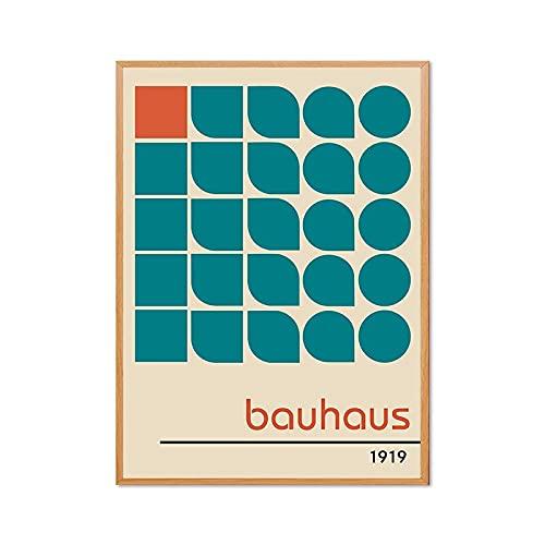 Exposición del Museo Bauhaus carteles e impresiones cuadros de arte de pared, cuadros de lienzo decorativos sin marco para imprimir en el hogar A1 60x90cm