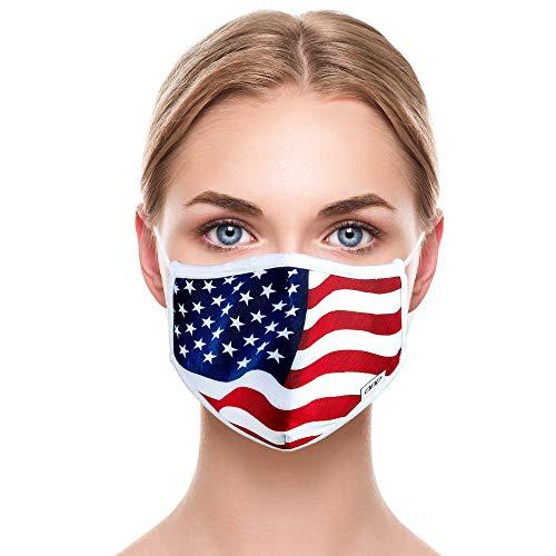 Odd Mask Cloth Face Shield Washable, Patriotic, USA Flag, Adult Men