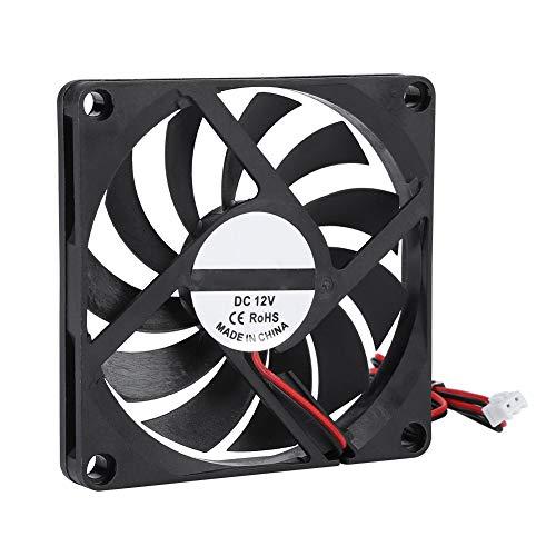 2 ventiladores de refrigeración de alta velocidad de 21,46 CFM, 8 x 8 x 1 cm, 12 V, 6000 rpm.