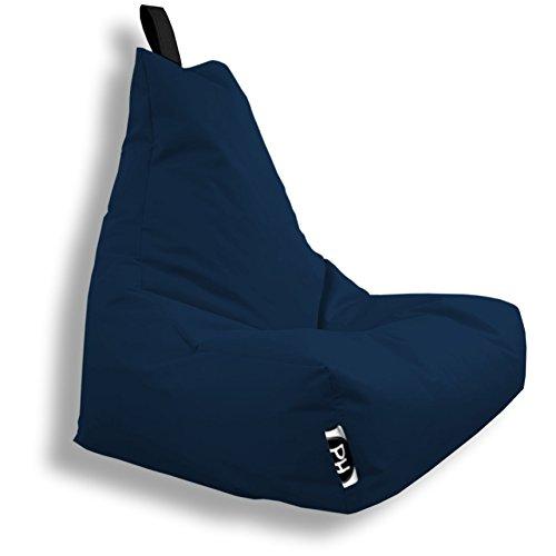Patchhome Lounge Sessel XXL Gamer Sessel Sitzsack Sessel Sitzkissen In & Outdoor geeignet fertig befüllt | XXL - Marine - in 2 Größen und 25 Farben