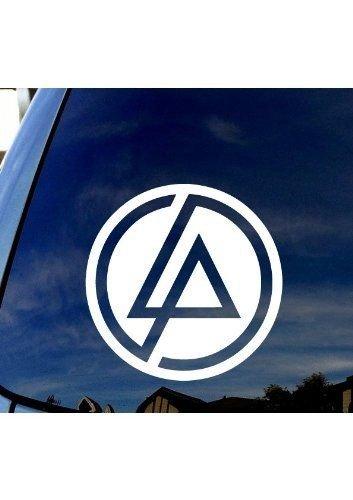 Linkin Park (Ausschnitt) LP Circle – Vinyl 10,2 cm hoch (Farbe: Weiß) Aufkleber Laptop Tablet Skateboard Auto Fenster Aufkleber
