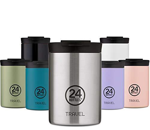 24Bottles Tazza da Viaggio Termica | Tazza Thermos in Acciaio Inox senza BPA | 12Ore Freddo 6Ore Caldo | Travel Tumbler | Design Originale Italiano (Erica, 350 ml)
