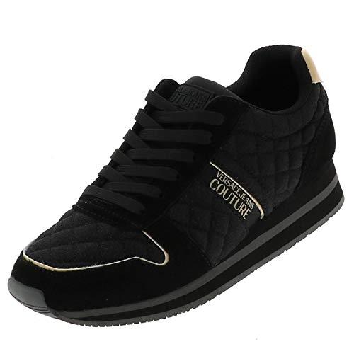 Versace Jeans Stella Noir Gold W - Zapatillas de moda ciudad, Negro (Negro ), 37 EU