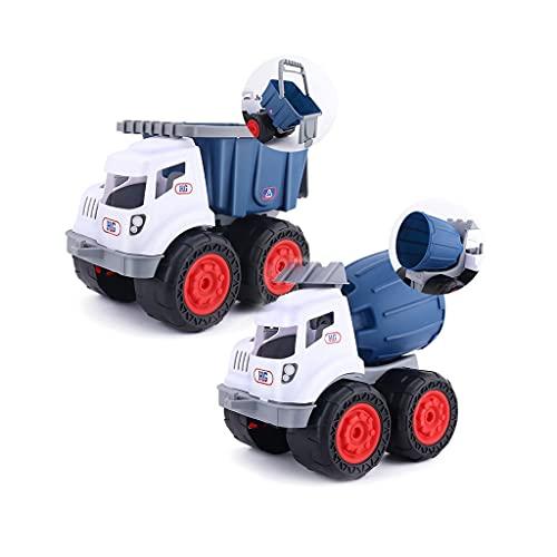 Juguetes De Vehículos De Construcción para Niños Y Niñas, Playa para Niños, Excavadora De Volteo Mezcladora De Grúa Pequeña, Juguete De 3 4 5 6 7 Años