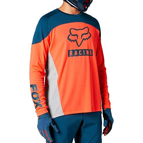 Fox Racing Herren Defend Long Sleeve Jersey Hemd, Atomic Punch, Mittel
