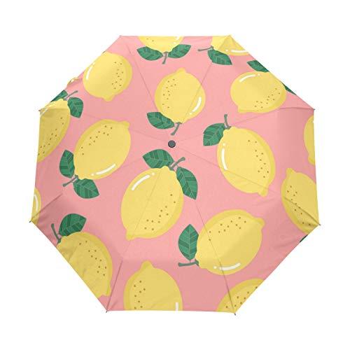 Süße Zitrone Bio-Frucht Regenschirm Taschenschirm Automatische Umbrella Winddichte Sonnenschutz Regenschirme Taschenschirme für Damen Herren