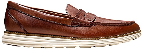 Cole Haan Men's Original Grand Penny Loafer, Woodbury/Ivory 9.5 M US