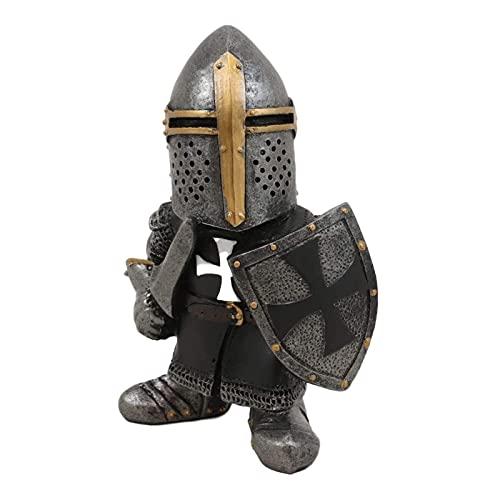 FeiyanfyQ 8 pz Giardino Cavaliere Guardia Gnomo Figura Suite, Guardia Rinascimentale Medievale Cavaliere della Croce Templare 7
