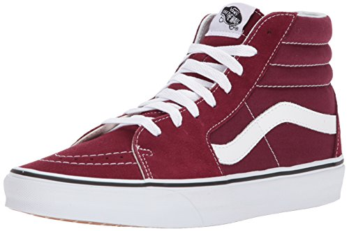 Vans Damen Sk8-hi Suede/Canvas Sneaker, Rot (Burgundy/True White), 42.5 EU