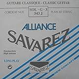 Savarez Cuerdas para Guitarra Clásica Alliance HT Classic 543J cuerda suelta Sol3 Carbon high, adecuado para juego 540J, 500AJ, 510AJ