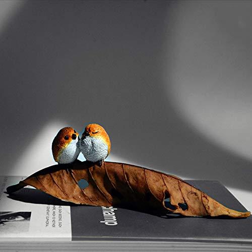 LASISZ Jardín Miniaturas Figuras Aves Animales Figura de acción Juguetes Adorno Accesorios Artesanía de Resina, 2