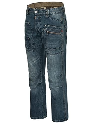 Timezone Herren Jeans Clay 3983 Urban Indigo Wash Cargo Worker (W31/L34)