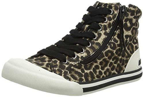 Rocket Dog Jazzin High-Top, Zapatillas Mujer, Leopardo, 39 EU